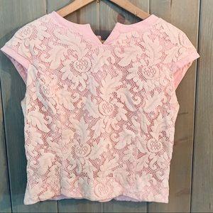 Vintage 60's Pink Lace Blouse